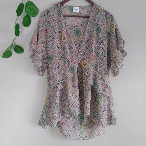 New Cabi women's blouse floral medium